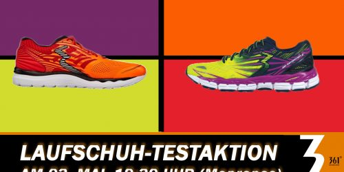 361° - Laufschuh-Testaktion am 03. Mai, 19:30 Uhr