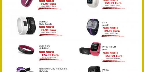 Sportwatches, Activity-Tracker & GPS-Geräte reduziert!