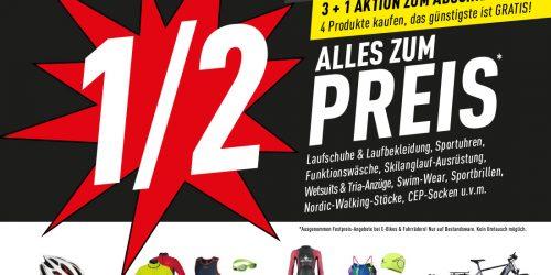 ALLES ZUM 1/2 Preis!* NUR NOCH BIS 22.12. geöffnet. AB SOFORT 3+1 Aktion zum Abschied!